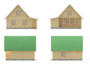 Дом сруб Дачный из бруса 7х8 с террасой 9 кв.м - foto 0