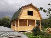 Дом сруб 6х8м из бруса хороший вариант для дачи