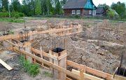 Фундамент,  Подьем Домов,  Кладка блока и кирпича в Ивье